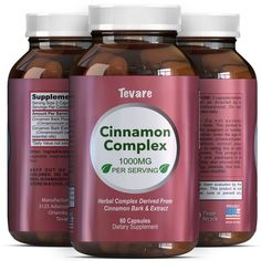 Complex Cinnamon Capsules - Vitamin For Weight Loss Best Blood Sugar Support - 100% Pure For Men and Women - Antioxidant Natural Essential Oils - Anti Inflammatory Supplement - 400mg - By Tevare -- Trust me, this is great! Click the image. : Herbal Supplements