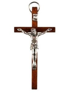 Wood Crucifix. Wood Cross with Figure of by GiftsofDevotion