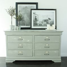 love this dresser redo - looks like a card catalog!
