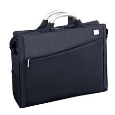 Airline Laptop Bag -  roomy enough to transport your laptop and office files, yet sleek enough to take along for drinks after work. With two anodized aluminum handles and a sturdy microfiber exterior, the Laptop Bag is built to withstand the rigors of daily commuting.