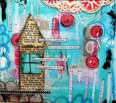 The Kathryn Wheel: My Art Journal Journal D'art, Art Journal Pages, Art Journals, Journal Ideas, Bullet Journal, Mixed Media Journal, Mixed Media Collage, Collage Art, Collages