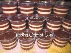 Bahan I : - 1000 ml susu uht coklat - 1 bungkus agar-agar bubuk cokelat - 1 sdt nutrijel plain - 20 gram cokelat bubuk - 125 gram gula pa...