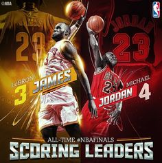 With his first basket LeBron James passed Michael Jordan for career NBA Finals points. Basketball Playoffs, Rockets Basketball, Basketball Workouts, Basketball Goals, Basketball Pictures, Bo Jordan, Michael Jordan, King Lebron James, King James