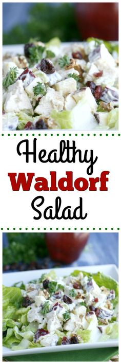 Healthy Waldorf Salad. This healthy version of the popular Waldorf Salad is full of tasty and clean eating ingredients! A great lunch or dinner option.