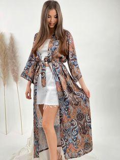 More brand @eshop_budinn Kimono Top, Bohemian, Brand New, Tops, Women, Style, Fashion, Woman, Swag