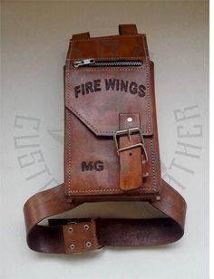 Handmade leather LEG BAG by DARcustomLeatheR on Etsy
