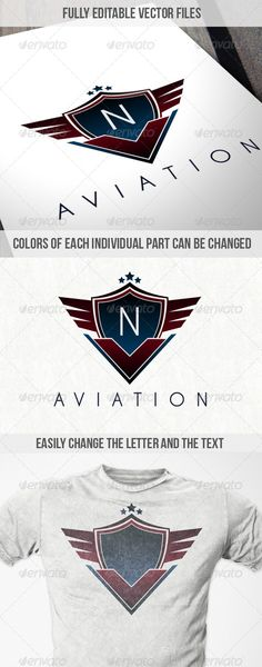 Aviation Badge Logo  #GraphicRiver         A great logo for any aviation, security, defence, military company and even gaming clans. Has a very high end sleek feel to it that suggests a secure and bold company.  	 Every portion of the logo can be changed including colors, the text and the prominent letter on the badge.  	 A link to the free font used is in the documentation file.     Created: 3August13 GraphicsFilesIncluded: VectorEPS #AIIllustrator Layered: Yes MinimumAdobeCSVersion: CS…