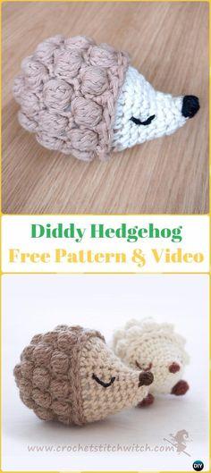 Amigurumi Crochet Diddy Hedgehog Free Pattern - Crochet Hedgehog Free Patterns