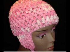 Crochet Geek - Crochet Puff Stitch Cap with Ear Flaps - free crochet pattern