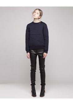 f0b67df57b1 ACNE   CHARLOTTE QUILTED PULLOVER Minimal Fashion