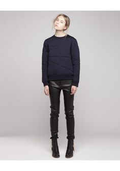 ACNE /  CHARLOTTE QUILTED PULLOVER
