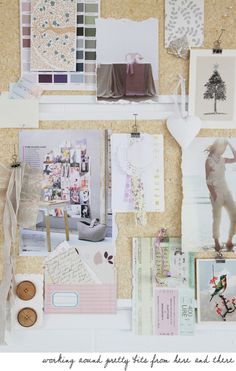 Color Me Pretty: by Leslie Shewring (stylist/photographer) as seen on Memo Boards, Art Boards, Inspiration Boards, Color Inspiration, Visual Story, Material Board, Textiles, Colour Board, Color Stories