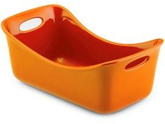 Stoneware Loaf Pan (9x5-in.): Orange by Rachael Ray
