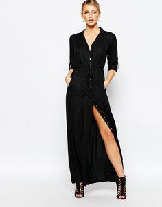 Image 1 - Boohoo - Maxi robe fonctionnelle à ceinture