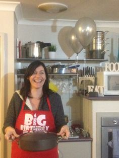 A very happy host Amy won our FREE saute pan for being a mystery host at our Biggest Birthday Bash in August