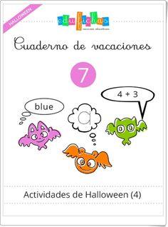 """Cuadernillo de Halloween 4 para Educación Infantil"" (Multidisciplinar) English Class, Snoopy, Teacher, Classroom, Activities, Comics, Kids, Fictional Characters, Dani"