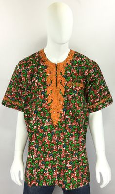 Taditional motif dashiki made of thick waxed cotton. Dashiki, Ankara, African, Blouse, Shirts, Shopping, Clothes, Tops, Women