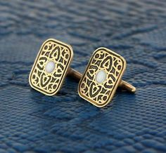 Persian inspired rectangle cufflinks in brass with by skrocki #mensfashion #mesnstyle #menswear #handmade #mensaccessories  #cufflinks #mensjewelry #frenchcuff  #mens