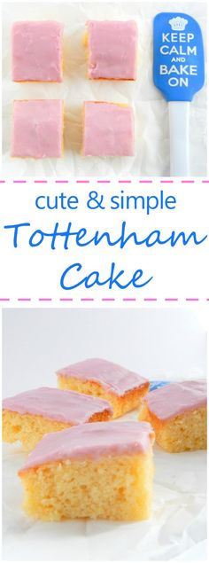 This recipe for Tottenham Cake is simple and super cute! Based on an English recipe made by Quakers it's a great cake for kids, parties, or just for yourself! Great British Bake Off, English Cake Recipe, English Recipes, Canadian Recipes, Scottish Recipes, French Recipes, Italian Recipes, Tottenham Cake, Tottenham Hotspur