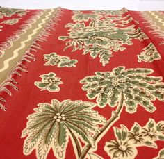 """1 Vintage #Greeff #Fabric #Sample 27"""" x 26"""" JUST for $8.99  Chelworth Stripe Rouge  100% #Cotton                               + FREE SAMPLES!!! #fabric #supplies #screenprinted #greeff #schumacher #stripe #rouge #striped #cotton #palm #sample #fabricsamples10 #chelworth"""