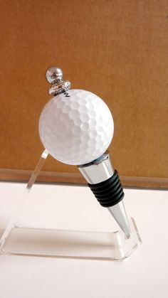 Golf Ball Wine Stopper, White or Pink Golf Ball Bottlestopper, Cork, Hostess Gift, Golf related