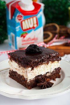 Piernik przekładany powidłami i mascarpone - I Love Bake Christmas Sweets, Xmas, Bon Appetit, Tiramisu, Cheesecake, Food And Drink, Cookies, Baking, Ethnic Recipes