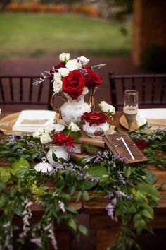 Featured Photographer: Angela Winsor Photography; wedding reception centerpiece