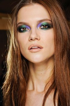 Pat McGrath Best Catwalk Make-Up Photos at Fashion Week (Vogue.com UK)Roberto CavalliMulti-coloured metallic smoky eyes and defined lips at Roberto Cavalli.