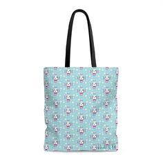 9bfe6d74dd4d AOP Tote Bag - Binnie Daisy Blue