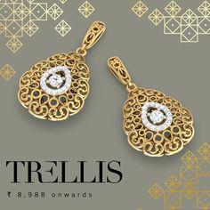 #trellis #gold #earring