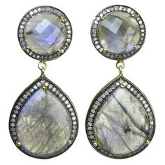 gorgeous labradorite & diamond Eliza Page Collection earrings!