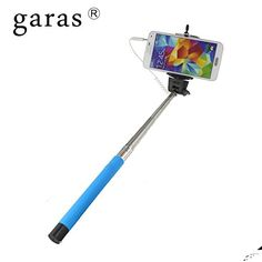 2ba20ce25657e1 Amazon.com: Garas Selfie Stick, Monopod,original Selfie Click Stick Self  Portrait [Battery Free] Extendable Handled Stick with Adjustable Phone  Holder ...