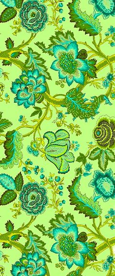 amy butler -this fabric is so vibrant, i would use as a cushion on a re-upholstered denim blue chair Textile Prints, Textile Patterns, Cool Patterns, Print Patterns, Textiles, Fabric Wallpaper, Pattern Wallpaper, Flower Wallpaper, Fabric Art