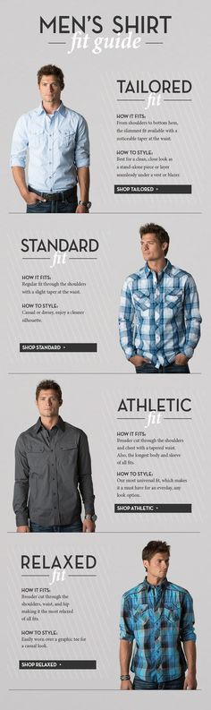 Men's Shirt fit guide. Design your outfits https://hockerty.com