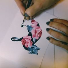 "9,308 Likes, 49 Comments - Sasha Unisex (@sashaunisex) on Instagram: ""Rose fox  #sashaunisex #temporarytattoo #watercolor"""