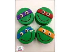 Edible Birthday Favors Teenage Mutant Ninja Turtle Oreos Frost the Cake