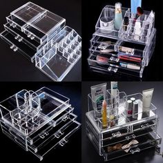 Acrylic clear Cosmetic make up storage jewelry drawer Box Case Set 44.98 EBAY.COM CLICK SITE SOUTH KOREA PRODUCTS ARE GREAT K.:)