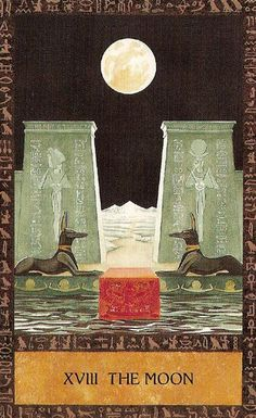 Ancient Egyptian Tarot Deck: XVIII The Moon