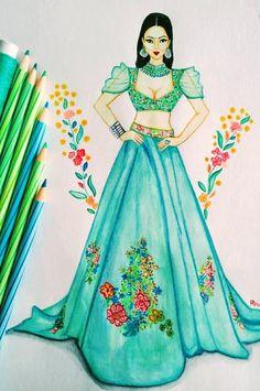 Fashion Drawing Tutorial, Fashion Figure Drawing, Fashion Drawing Dresses, Fashion Illustration Dresses, Fashion Illustrations, Drawing Fashion, Design Illustrations, Croquis Fashion, Dress Illustration