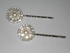 Rhinestone Bridal Hair Pins Bridal Hair by BittysJewelryAndMore, $22.95