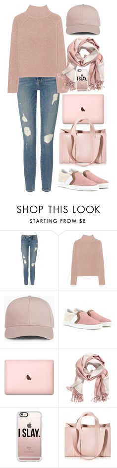 """""""Rosé Day"""" by swimsinger ❤ liked on Polyvore featuring Frame Denim, 360 Sweater, Lanvin, Casetify and Corto Moltedo"""