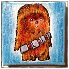 Star Wars Kewties™ Chewbacca Mini Canvas Print w/ by Kamenliter