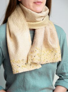 Nuno felt scarf from merino wool and silk for women Nuno Felt Scarf, Handmade Scarves, Felted Slippers, Nuno Felting, Color Shades, Soft Colors, Mother Gifts, Womens Scarves, Merino Wool