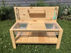 Mud Kitchen with double sinks and shelf Sand Play, Water Play, Sensory Bins, Sensory Play, Sensory Table, Sensory Activities, Play Yard, Plastic Bins, Stainless Steel Sinks
