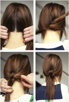 Cute And Easy Ponytails Hairstyles for Women and Girls #updo #hair