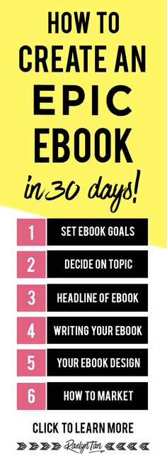 How to write an eboo...