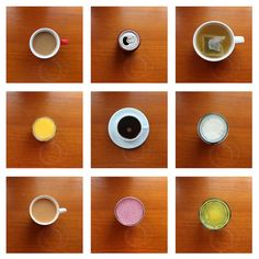 A typology of beverages. Photo by Phoebe Mead.