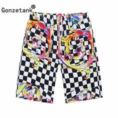 Gonzetank 2017 New Designer Summer Hawaiian Men's Beach Shorts Black And White Grid Bermuda Sweat Jogger Cargo Short Size L-XXL. Yesterday's price: US $10.99 (8.95 EUR). Today's price: US $6.04 (4.95 EUR). Discount: 45%.