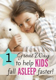 I would pay good money to get my  to kids fall asleep faster! Sometimes the simplest solution works the best!