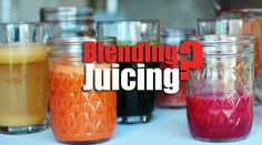 Blending Food vs Juicing? Which One Is Better? What's The Difference?  JUICING  Health and fitness conscious individual often ask themselves whether juicing is more effective than simply blending ingredients. Juices and Smoothies are an important c